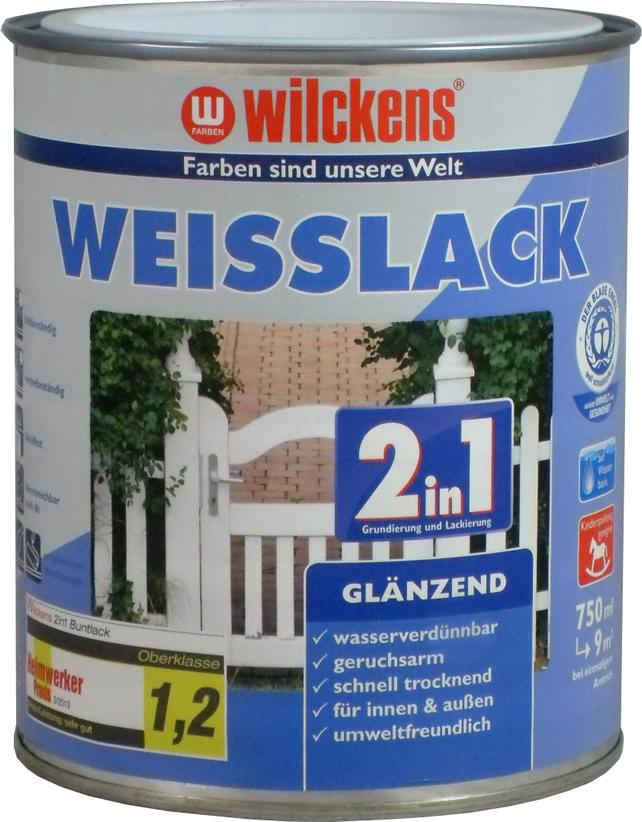 2in1 Weisslack glänzend 水性2合1白色高光搪瓷漆